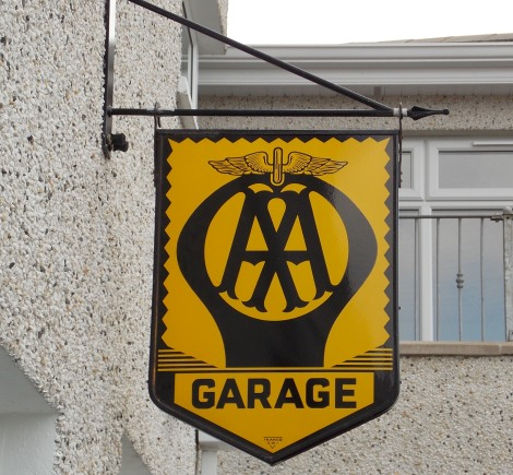 AA Garage Sign